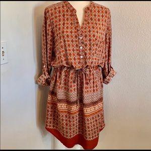 Nectar Clothing Boho Shirt Dress/Anthropologie